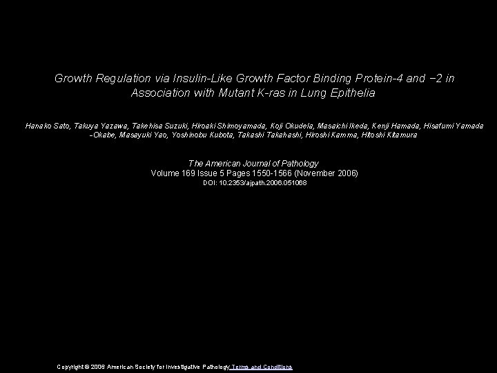 Growth Regulation via Insulin-Like Growth Factor Binding Protein-4 and − 2 in Association with