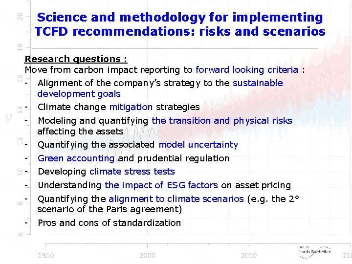 Science and methodology for implementing TCFD recommendations: risks and scenarios Research questions : Move