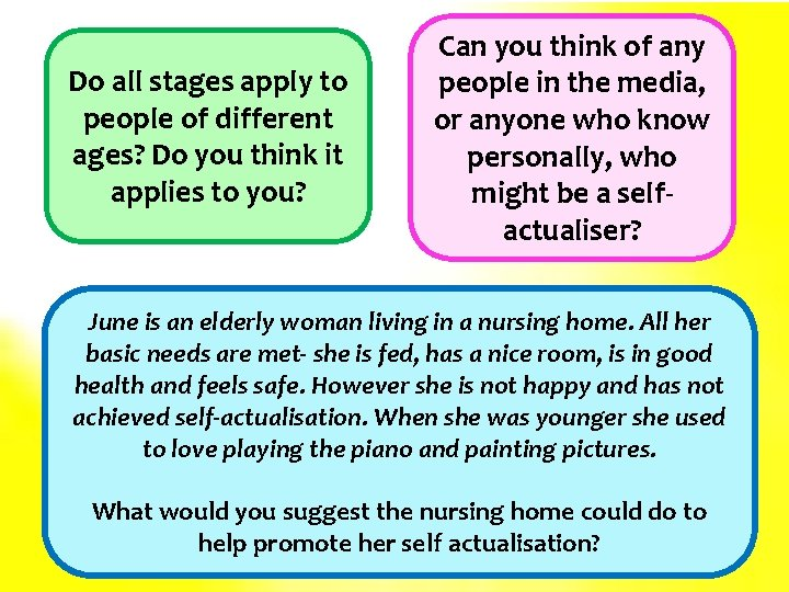 Do all stages apply to people of different ages? Do you think it applies