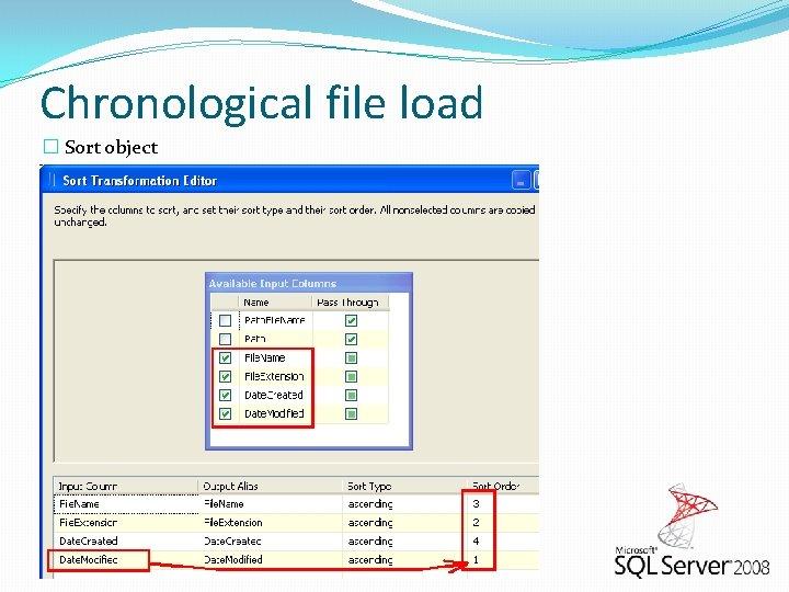 Chronological file load � Sort object