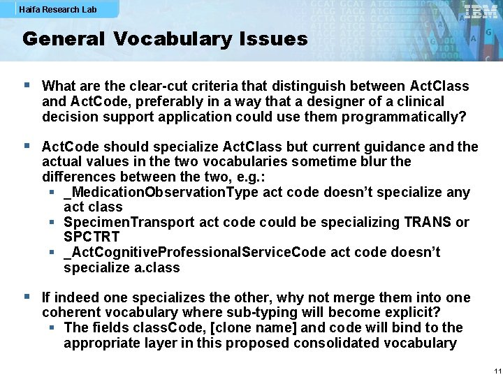 Haifa Research Lab General Vocabulary Issues § What are the clear-cut criteria that distinguish