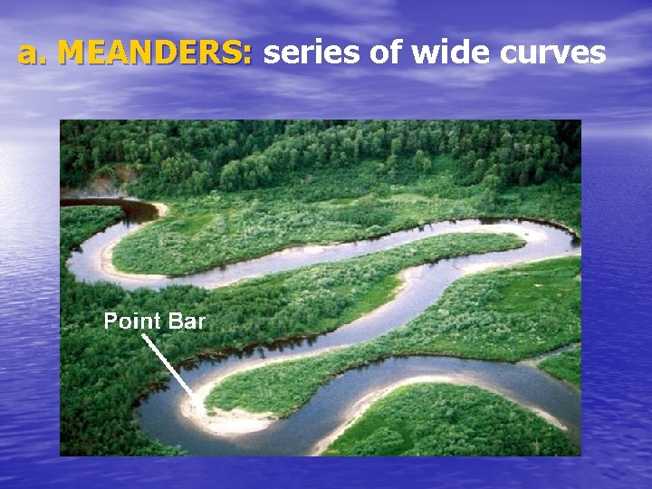 a. MEANDERS: series of wide curves