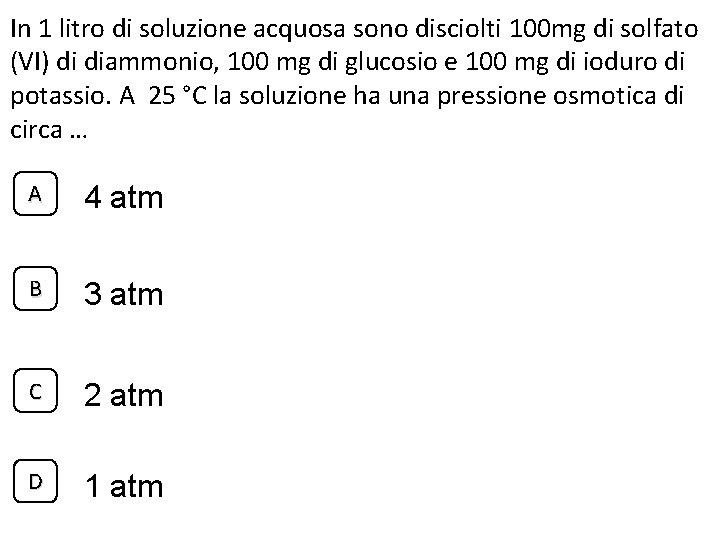 In 1 litro di soluzione acquosa sono disciolti 100 mg di solfato (VI) di