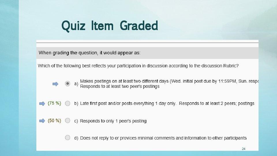 Quiz Item Graded 24