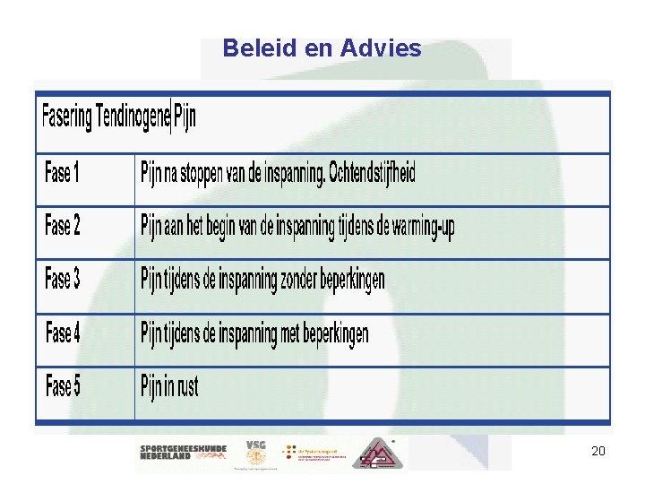 Beleid en Advies 20