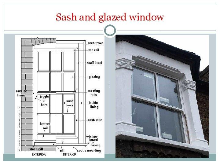 Sash and glazed window