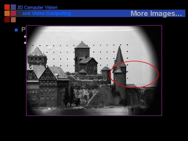 3 D Computer Vision and Video Computing n More Images… Problems l l Correspondence