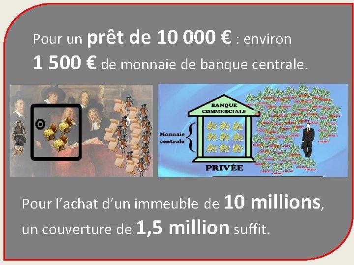 Pour un prêt de 10 000 € : environ 1 500 € de