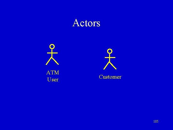 Actors ATM User Customer 105