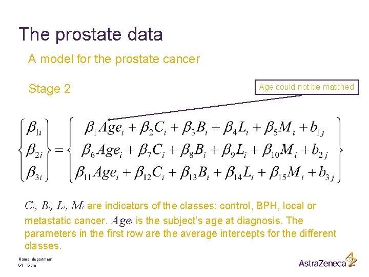 Cancer advanced stages Prostate cancer