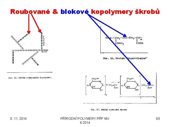 Roubované & blokové kopolymery škrobů 5. 11. 2014 PŘÍRODNÍ POLYMERY PŘF MU 6 2014