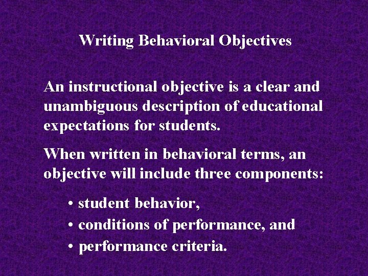 How to write clear instructional objectives our life in the future essay