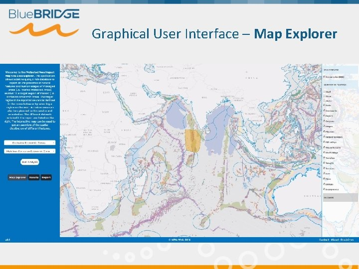Graphical User Interface – Map Explorer