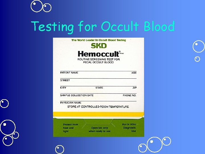 Testing for Occult Blood