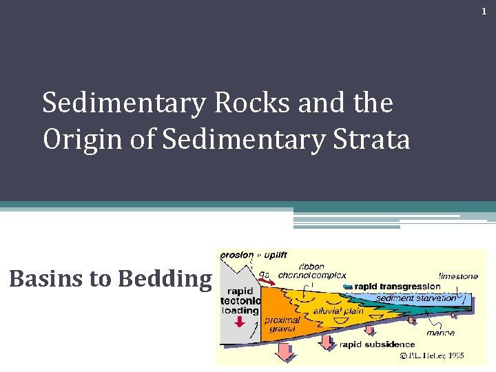 1 Sedimentary Rocks and the Origin of Sedimentary Strata Basins to Bedding