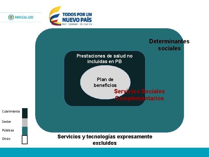 Determinantes sociales Prestaciones de salud no incluidas en PB Plan de beneficios Servicios Sociales