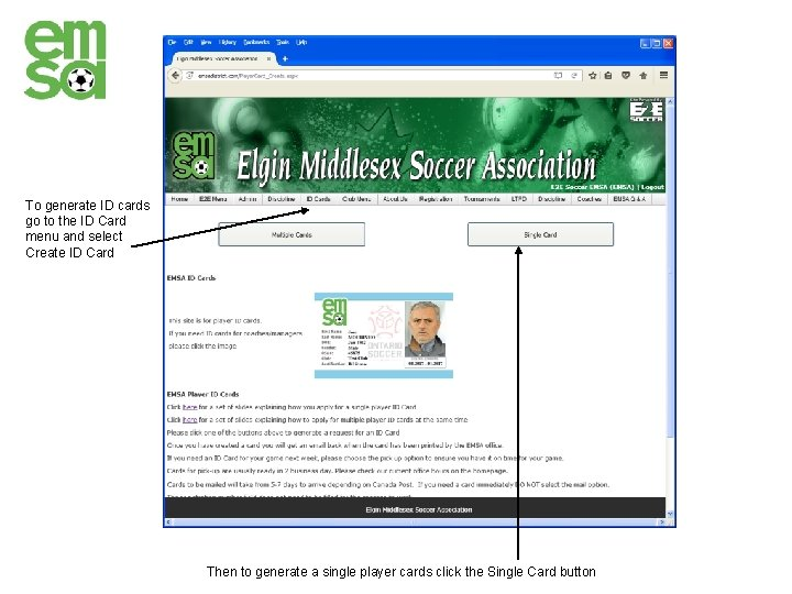 To generate ID cards go to the ID Card menu and select Create ID