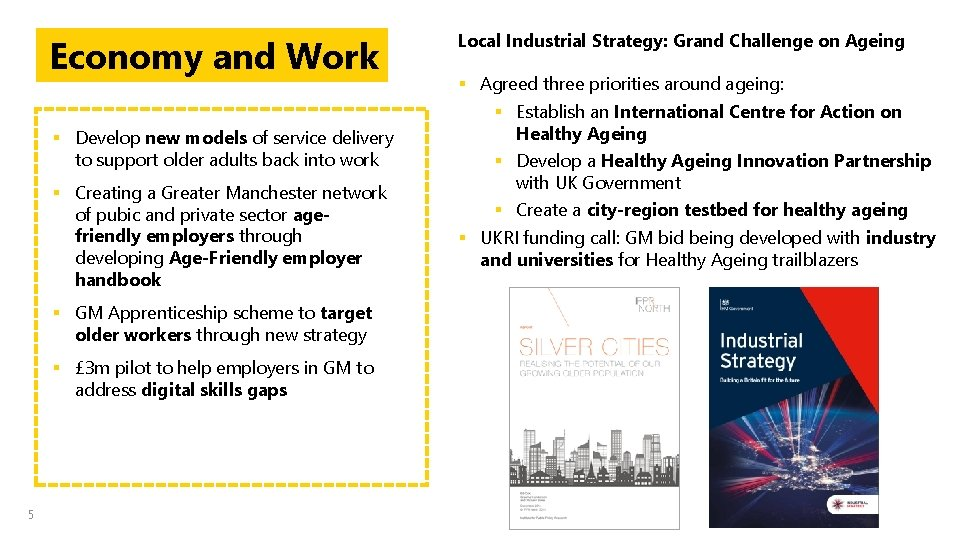 Economy and Work § Develop new models of service delivery to support older adults