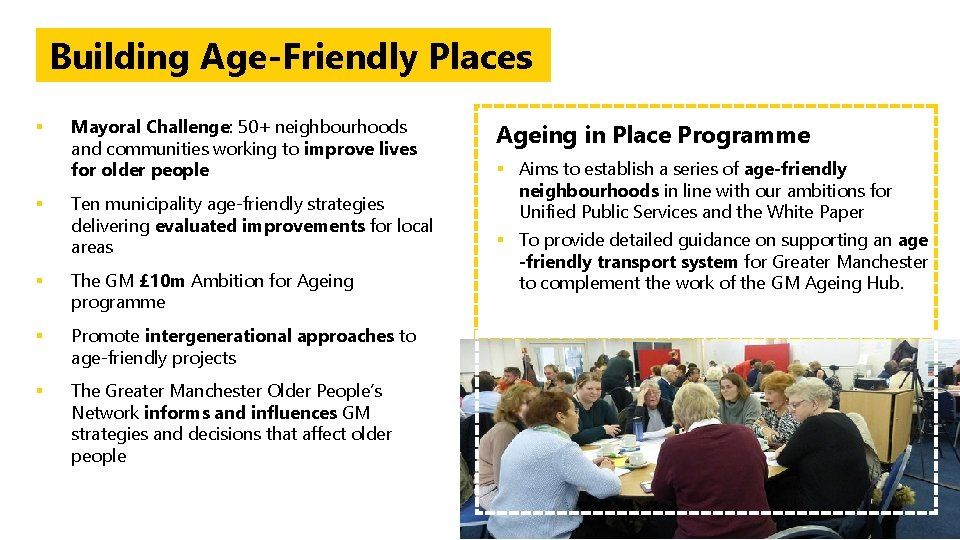 Building Age-Friendly Places § Mayoral Challenge: 50+ neighbourhoods and communities working to improve lives