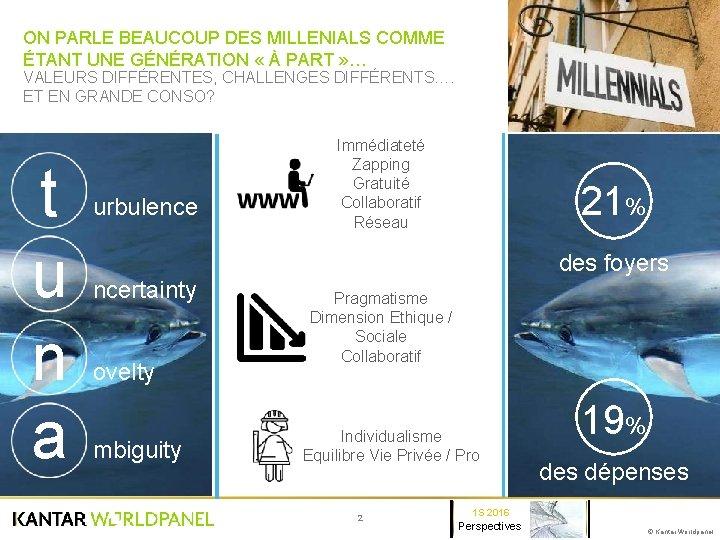 ON PARLE BEAUCOUP DES MILLENIALS COMME ÉTANT UNE GÉNÉRATION « À PART » …
