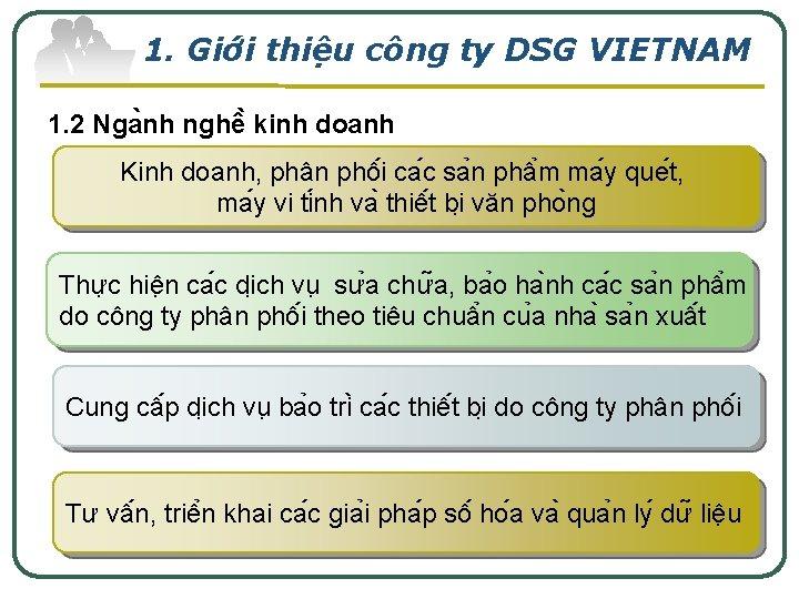 1. Giơ i thiê u công ty DSG VIETNAM 1. 2 Nga nh nghê