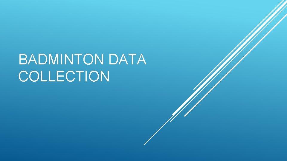 BADMINTON DATA COLLECTION
