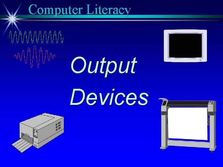 Computer Literacy Output Devices
