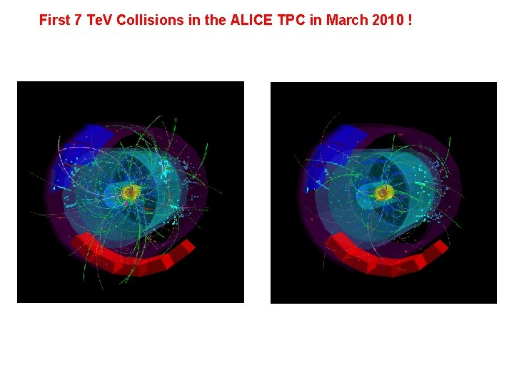First 7 Te. V Collisions in the ALICE TPC in March 2010 !