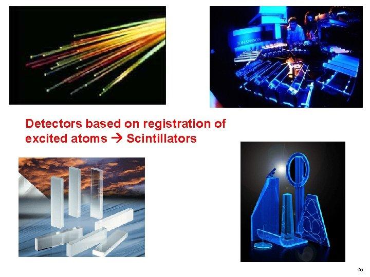 Detectors based on registration of excited atoms Scintillators 45