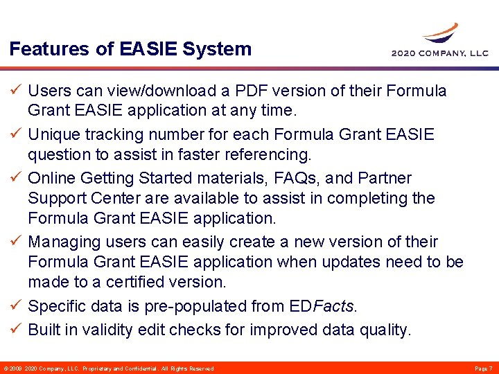 Features of EASIE System ü Users can view/download a PDF version of their Formula