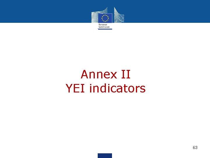 Annex II YEI indicators 63