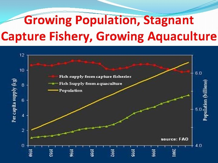 Growing Population, Stagnant Capture Fishery, Growing Aquaculture