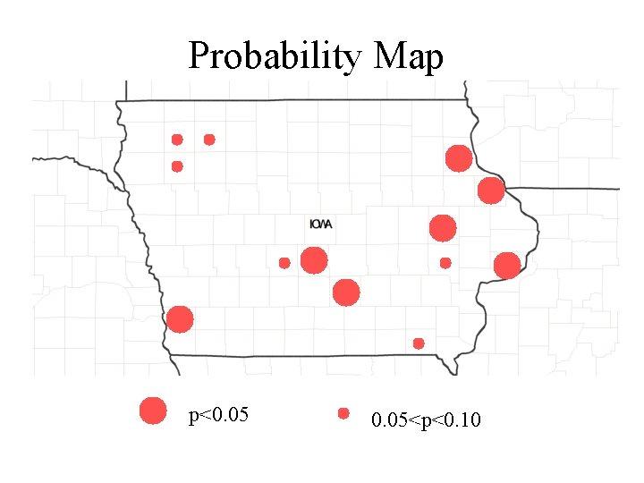 Probability Map p<0. 05<p<0. 10