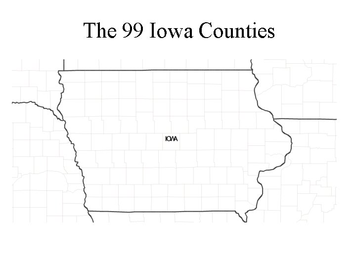 The 99 Iowa Counties