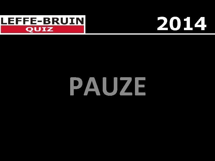 2014 PAUZE