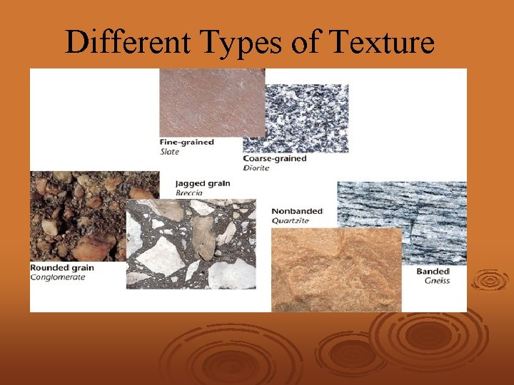 Different Types of Texture