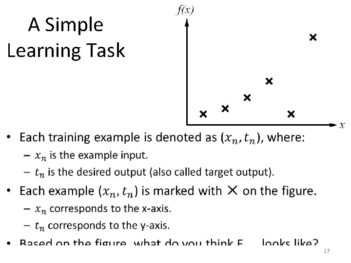 A Simple Learning Task • 17