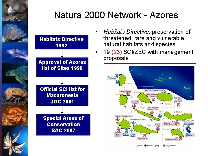 Natura 2000 Network - Azores Habitats Directive 1992 Approval of Azores list of Sites
