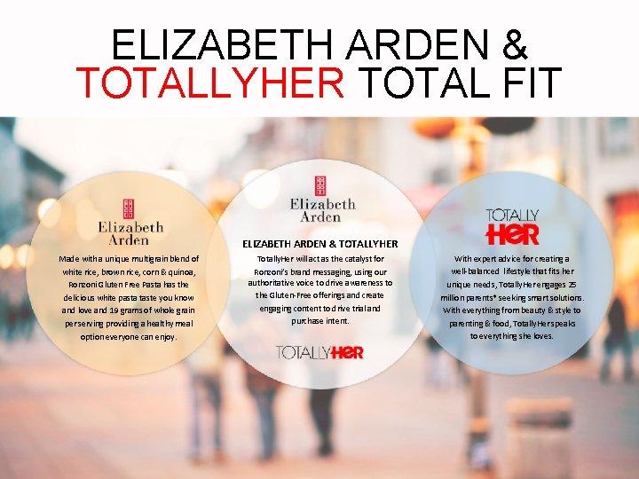 ELIZABETH ARDEN & TOTALLYHER TOTAL FIT ELIZABETH ARDEN & TOTALLYHER Made with a unique