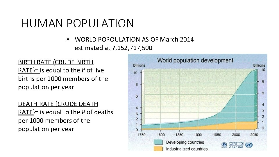 HUMAN POPULATION • WORLD POPOULATION AS OF March 2014 estimated at 7, 152, 717,