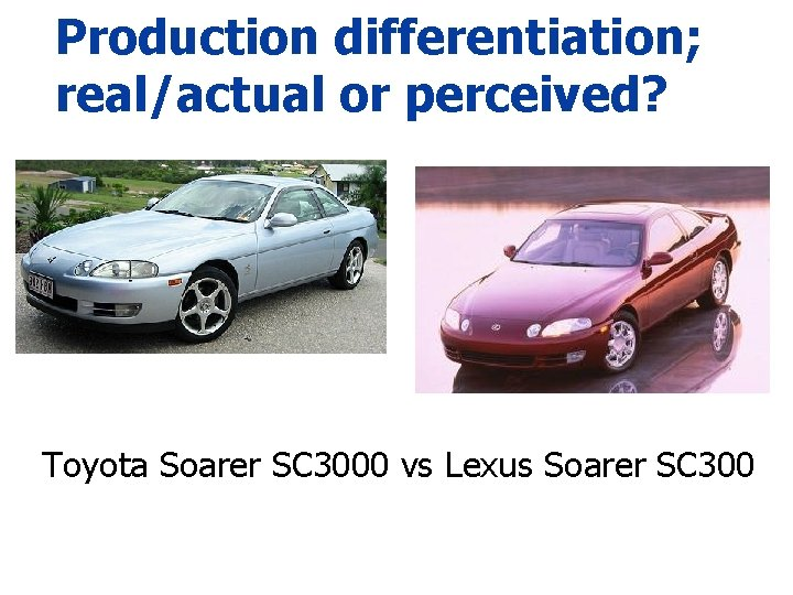 Production differentiation; real/actual or perceived? Toyota Soarer SC 3000 vs Lexus Soarer SC 300