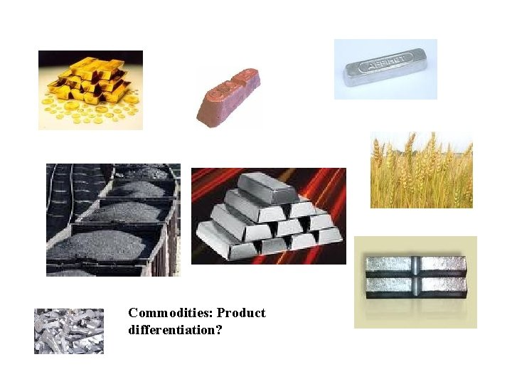 Commodities: Product differentiation? Copyright 2004 Mc. Graw-Hill Australia Pty Ltd PPTs t/a Microeconomics 7/e
