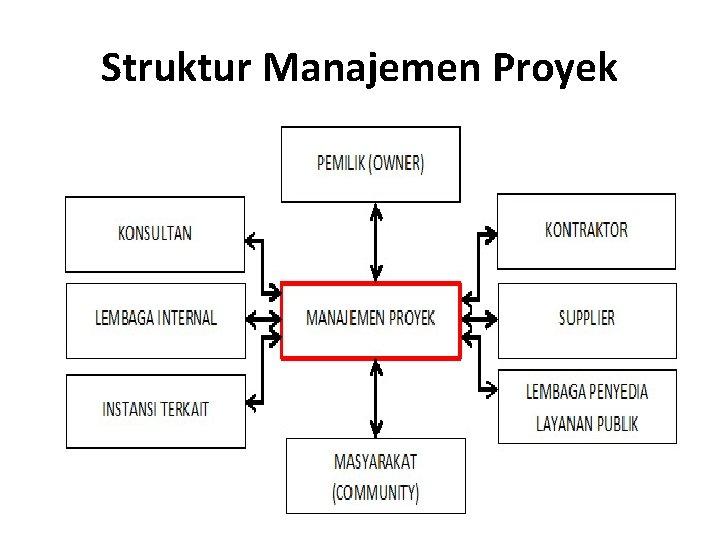 Struktur Manajemen Proyek