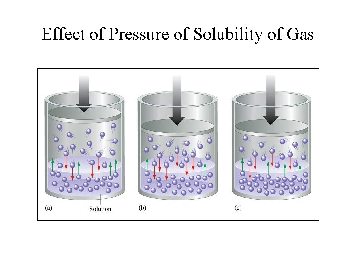 Effect of Pressure of Solubility of Gas