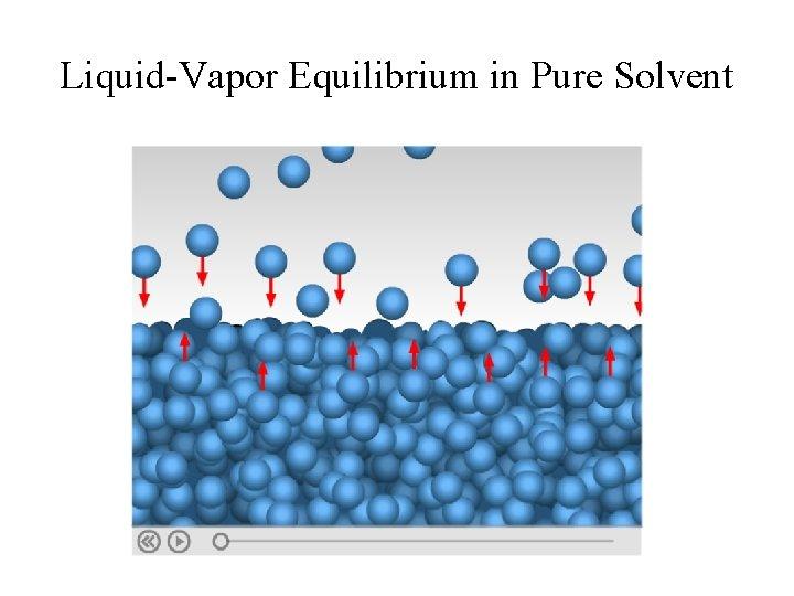 Liquid-Vapor Equilibrium in Pure Solvent