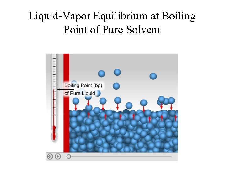 Liquid-Vapor Equilibrium at Boiling Point of Pure Solvent