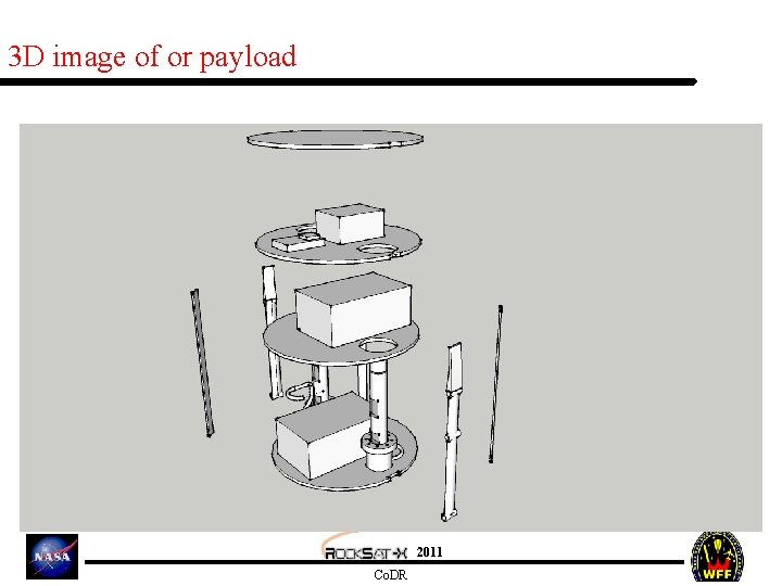 3 D image of or payload 2011 Co. DR