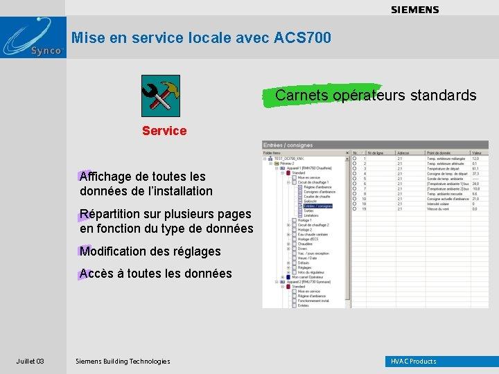 . . . . Mise en service locale avec ACS 700 Carnets opérateurs standards