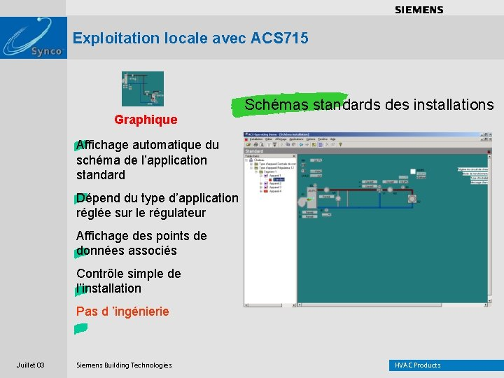 . . . . Exploitation locale avec ACS 715 Graphique Schémas standards des installations