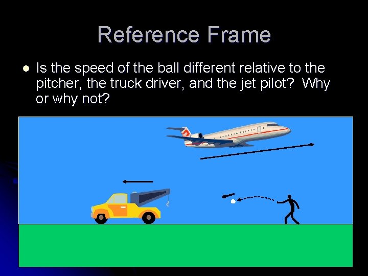 Reference Frame l Is the speed of the ball different relative to the pitcher,